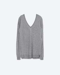 Image 6 of DOUBLE V-NECK SWEATER from Zara