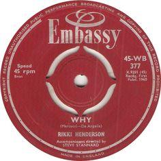 45-WB 377. Why. Rikki Henderson. 45.