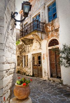 Lefkes village, Paros, Greece