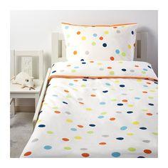 DRÖMLAND Duvet cover and pillowcase(s), multicolor multicolor Twin