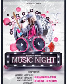 Night Music Flyer Templates  Night Music Flyer Templates