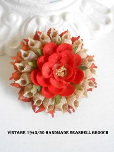 Seashell Brooch 1950s era