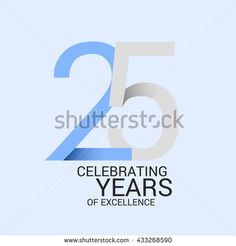 22 years anniversary signs symbols simple design stock vector