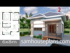 House Plans 12x8 with 3 Bedrooms Gable roof The House has:One-story house,3 bedrooms,2 bathrooms,living roomKitchen,Dinning room,