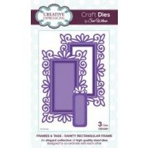 Creative Expressions Craft Dies by Sue Wilson - Frames & Tags Collection - Dainty Rectangular Frame Elizabeth Craft Designs, Scrapbook Supplies, Craft Supplies, Scrapbooking, Sue Wilson Dies, Blue Nose Friends, Making Greeting Cards, Making Cards, General Crafts
