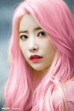 Heehyun with pink hair? Kpop Rappers, Gorgeous Hairstyles, Pink Hair, Asian Beauty, Korean, Female, Hair Styles, Pretty, Girls