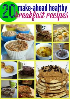 Make ahead healthy breakfast recipes - perfect for those busy mornings when you need something fast. Use this list of easy breakfast ideas to start your day right!