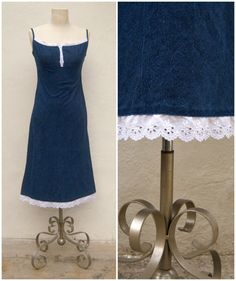 vintage 70s denim sundress // praire dress // by dahlilafound, $38.00