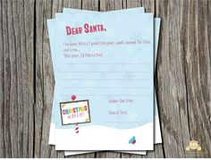 Free letter to Santa, available November 4th  www.blushprintables.blogspot.com