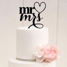 Wedding Cake Topper/ Mr Loves Mrs Cake Decoration