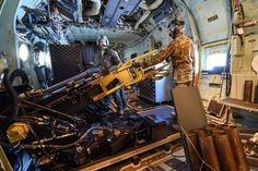 Gunners operate the 105 mm howitzer on board - The USAF Finally Gives Its Gunship The Big Gun It Desperately Needs - The Drive New Aircraft, Military Aircraft, Air Force Special Operations, Tactical Wall, Brown Water Navy, Ac 130, The War Zone, Close Air Support, Airplane Photography