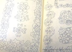 Fleurs en Transferts: Iron-on Floral Transfers for Embroidery via the fabulous Mary Corbet