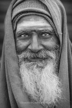 "Peace of Mind (BW) - Portrait of a sadhu (Varanasi, India). Prints and books available online here: http://robertopazziphotography.weebly.com Subcribe to the newsletter and download the ebook ""Streets of the World"" as a welcome gift! Web site: http://robertopazziphotography.weebly.com Fecebook: https://www.facebook.com/robertopazziphotography Instagram: Roberto_Pazzi_Photography"