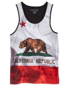 dfa738852b929b Ring of Fire Men s Cali Flag Sublimated Tank Cali
