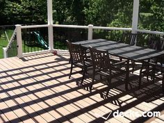 Deck Picture in A Robbinsville Pergola - Picture 1145 Pergola Pictures, Decking Material, Deck Builders, New Deck, Shade Structure, Deck Plans, Building A Deck, Deck Design, Outdoor Furniture
