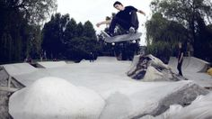 is a popular material for skate parks. Either use a form or build off of existing structures to create a