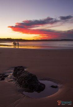 Sunset at Agnes Water Beach - Queensland, Australia