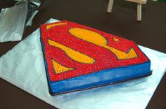 Pin Superman Birthday Cakes Sugar Icing Cake Picture To Pinterest