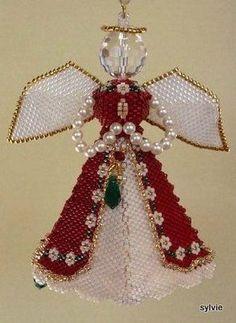 Paula Adams Majestic Angel - beaded ornament decoration peyote
