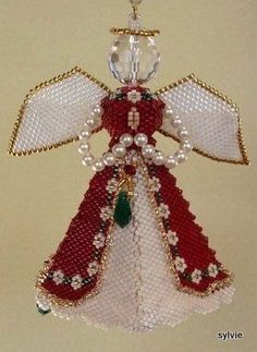 Paula Adams Majestic Angel - beaded ornament decoration peyote