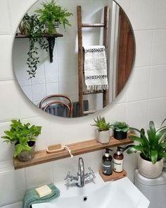 Bathroom Plants, Boho Bathroom, Bathroom Ideas, Small Bathroom Plans, Bathroom Goals, Bathroom Interior Design, Interior Decorating, Bohemian Decorating, Bohemian Design