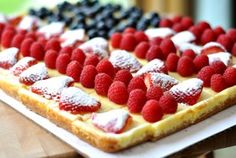 Festive Fruited Cheesecake Flag - melskitchencafe.com