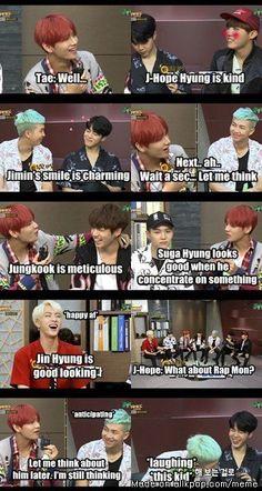 Taehyung always doing this to Jin | allkpop Meme Center