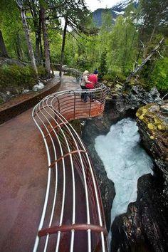 "Gudbrandsjuvet by architects Jensen & Skodvin. ""Nasjonal turistveg""-project, Norway."