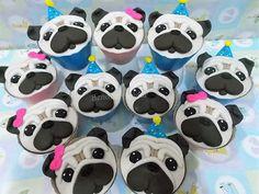 Bailey Cupcakes, Pug Cupcakes, Birthday Pug, Birthday Cakes, Pugs, Pocahontas, Bedrooms, Party Ideas, Baking