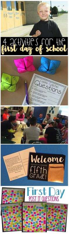 Planning activities for the first day of school can be a bit tricky. These four engaging ways will help your third graders, fourth graders, or fifth graders talking and sharing about themselves! This post contains TWO FREEBIES! :)