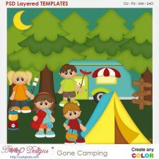 Gone Camping Layered Element Templates #CUdigitals cudigitals.comcu commercialdigitalscrapscrapbookgraphics