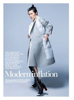 visual optimism; fashion editorials, shows, campaigns & more!: modern inflation: wang xiao by daniel gabbay for uk marie claire october 2014
