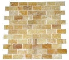 "This one is a bit brighter, could look nice in the shower area  Honey Onyx 1x2 Brick Pattern Polished Mosaics Meshed on 12"" X 12"" Tile for Backsplash, Shower Walls, Bathroom Floors Marble 'n things http://smile.amazon.com/dp/B001TK8U5W/ref=cm_sw_r_pi_dp_eSBjvb00DK0S6"