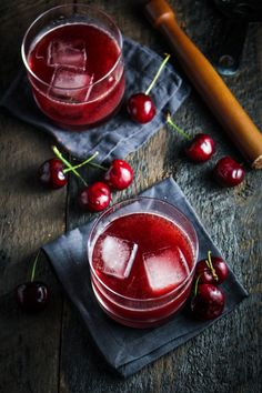 Cherry-Chocolate Bourbon Soda (recipe) / by Katie at the Kitchen Door