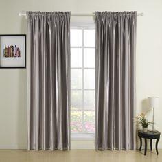 Noble Grey Solid Stripe Room Darkening Curtain  #curtains #homedecor #decor #homeinterior #interior #design #custommade