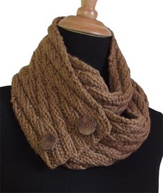 Free Pattern: Un-Button Scarves by Pamela Young