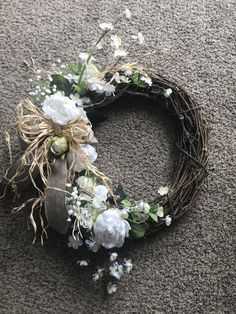 There is just something about a Grapevine Wreath that I love. I love making one. This is my newest. Property of Personalized Traditions.