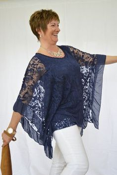 Floral Net Batwing Top – Mandy's Heaven - Women's Fashion Boutique, Fashion Over 40