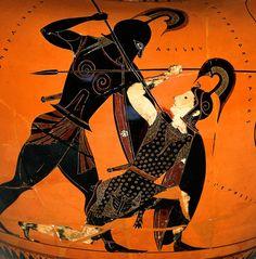 Aquiles matando a Pentesilea  Luis Aguilar