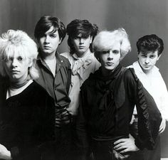 The new romantics: Duran Duran members Andy Taylor, Simon Le Bon, John Taylor, Nick Rhodes and Roger Taylor