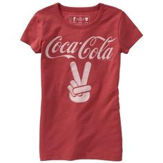 Old Navy Girls Coca-Cola Graphic Tees ($11) ❤ liked on Polyvore