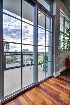 Fantastic features of the loft are the great views of downtown and a nice-sized balcony.