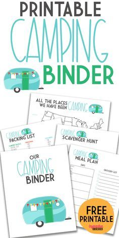 Grab these free camping printable to help you stay organized when planning your next camping trip! This free camping binder included a camping packing list, scavenger hunt, meal planning printables, and so much more! Download your free printable here! #camping #campingprintables #campingplanner #campingshoppinglist #campingmealplan Camping Ideas, Camping Meal Planning, Rv Camping Checklist, Rv Camping Tips, Travel Trailer Camping, Camping List, Camping With Kids, Tent Camping, Camping Supplies