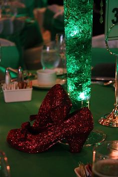 Okay, it would be awesome to do book themed tables.  Super expensive and a headache, but awesome.