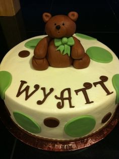 Teddy Bear with Bow By CandyM on CakeCentral.com