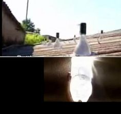 Build solar light with the use of... a plastic bottle.  Also atch the how-to video: http://www.youtube.com