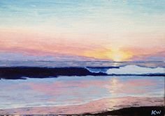 Sunset by Kurt Weismair Acrylic ~ x Small Paintings, Sunset, Art, Drawings, Art Background, Pocket Charts, Kunst, Sunsets, Performing Arts