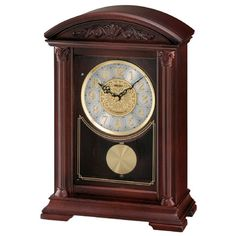 Seiko Mantel Clock With Brown Wooden Case Plays One of 6 Hi-Fi Melodies Automatic Silencer - gap deal