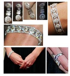 Duchess of Cambridge Diamond Earrings, Bracelet and Ring