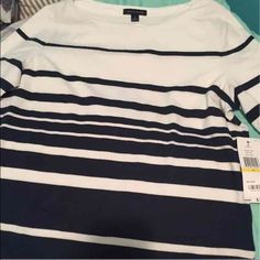 Tommy Hilfiger Striped 3/4 Sleeve Shirt New, never used, & tag still attached. Original price is $39.50 and size is Medium as seen in photos. Tommy Hilfiger Tops Tees - Short Sleeve